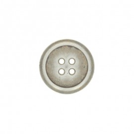 Bouton polyester Napoli - argent