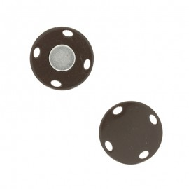 Bouton aimanté Ima 23 mm - marron glacé