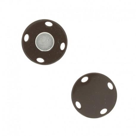 23 mm magnetic button - shiny chestnut Ima