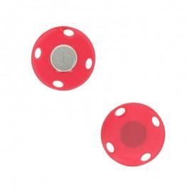 Bouton aimanté Ima 23 mm - rouge