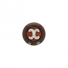 22 mm Polyester button - chocolate Carl