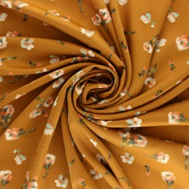 Royal micro satin By Penelope® - Mustard Roses x 10cm