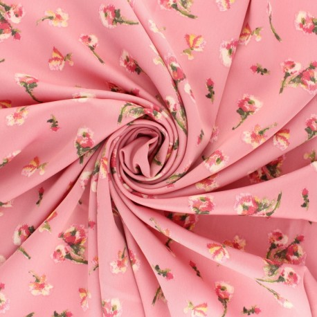 Tissu Royal micro satin by Penelope® Roses - moutarde x 10cm
