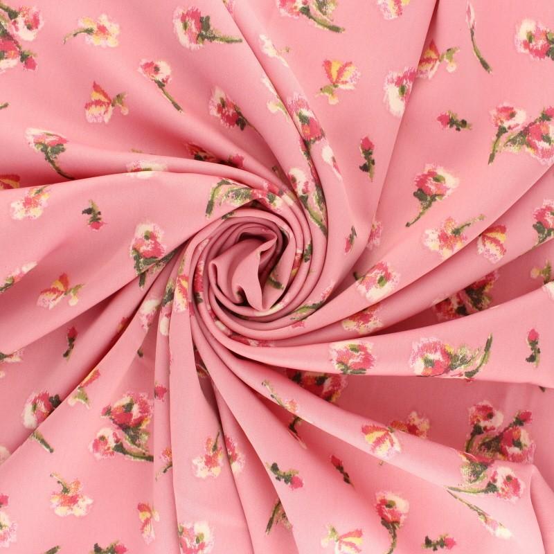 Royal Micro Satin Tissu au mètre rose fuchsia