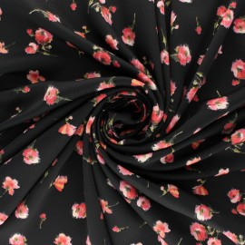 Tissu Royal micro satin by Penelope® Roses - marine x 10cm