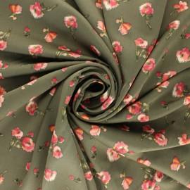 Tissu Royal micro satin by Penelope® Roses - Bordeaux x 10cm