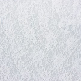 Lace Fabric - white Méria x 10cm