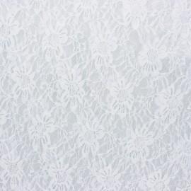 Tissu Dentelle Méria - blanc x 10cm
