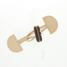 Suede Duffle Coat Toggle - caramel Pill
