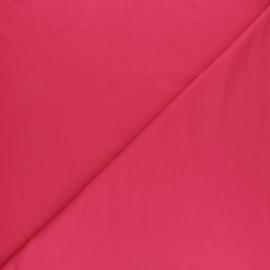 Tissu sweat léger Modal uni - framboise x 10cm