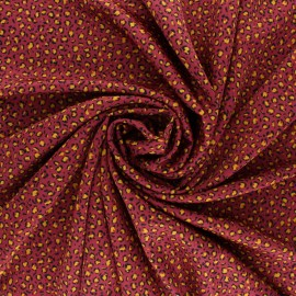 Tissu Royal micro satin by Penelope® Tiny leopard - Rose perle x 10cm
