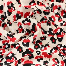 Tissu polyester satiné Pearl Peach Gold Poppy by Penelope® - Bleu ciel x 10cm