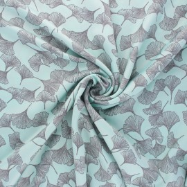 Tissu Royal micro satin by Penelope® Pastel Gingko - bleu  x 10cm
