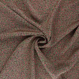 Tissu Royal micro satin by Penelope® Tiny leopard - vert kaki x 10cm