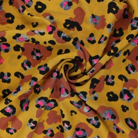Tissu Viscose Radiance Wild daisy by Penelope® - moutarde x 10cm