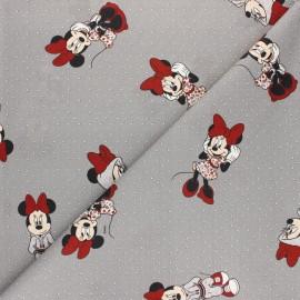 Disney Cretonne cotton fabric - white Sporty Minnie x 10 cm