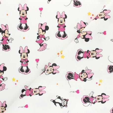 Disney Cretonne cotton fabric - grey Sporty Minnie x 10 cm