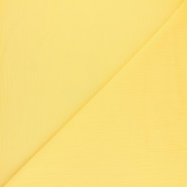 cotton crepe fabric - Limoncello yellow x 10cm