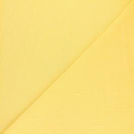 Tissu crépon de coton - jaune Limoncello x 10cm