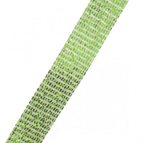 Galon paillettes à thermocoller  vert anis