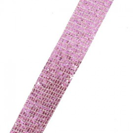 Galon paillettes à thermocoller  rose