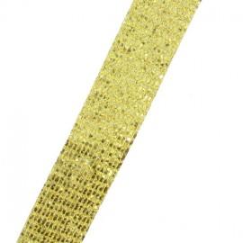 Galon paillettes à thermocoller dorée