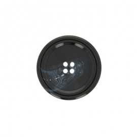 Polyester Button Minéral - mist