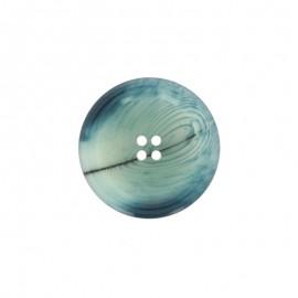 Polyester Button Minéral - topaz