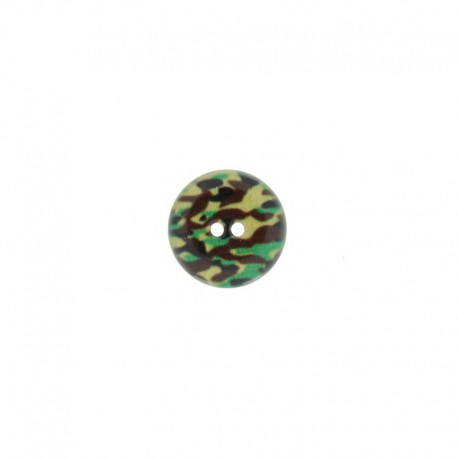 15 mm Polyester Button Army - Blue