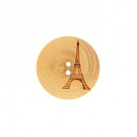 Bouton bois Eiffel - Naturel