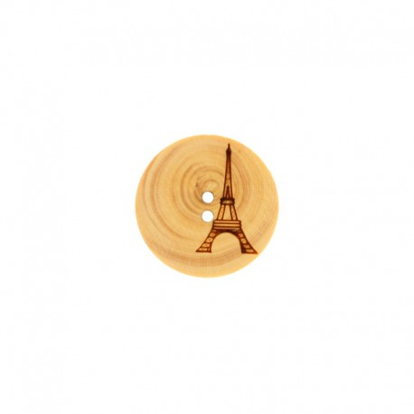Polyester Button Basile - Brown