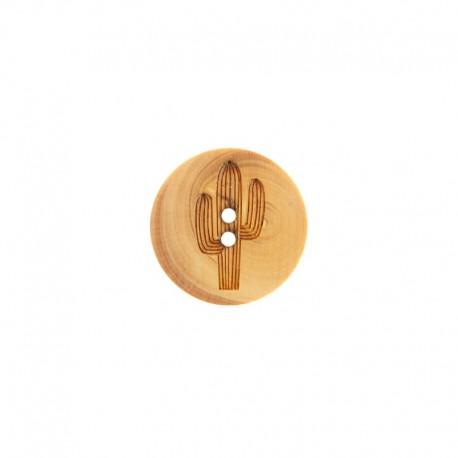 Wood Button Eiffel - Natural