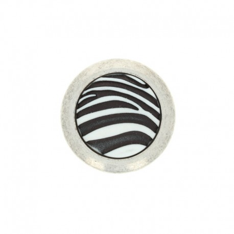 Polyester Button Basile - white