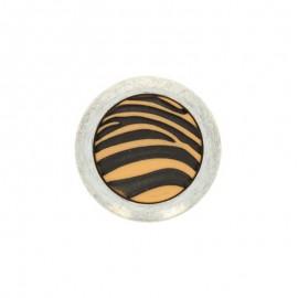 Bouton polyester Zebra - Blanc