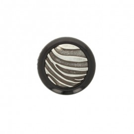 27 mm Polyester Button Zebra - orange