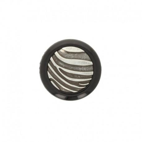 27 mm Polyester Button Zebra - orange