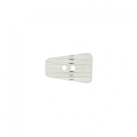 22 mm Metal Alivio button - silver