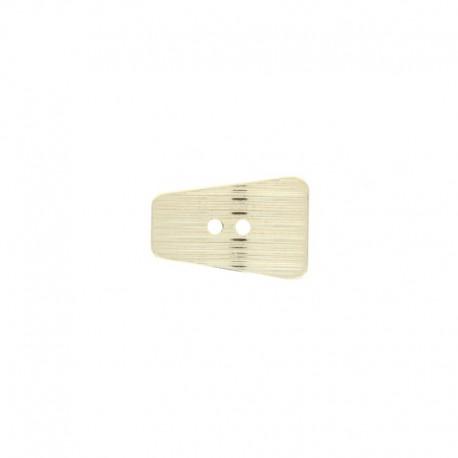 Bouton métal Curv 20 mm - argenté