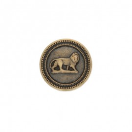 22 mm Metal King button - bronze
