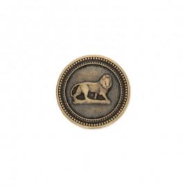 Bouton métal King 22mm - bronze