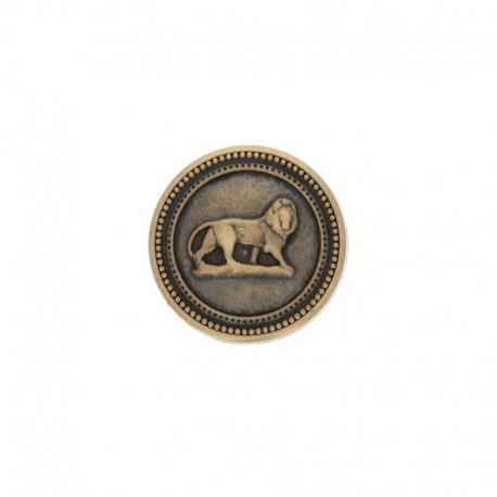 22 mm Metal King button - bronze