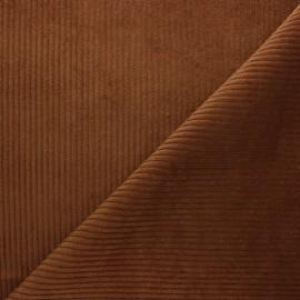 Tissu velours à grosses côtes acajou x10cm