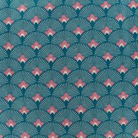 Tissu toile de coton Japan - bleu x 10cm