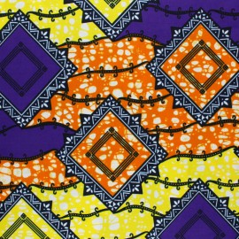 Wax print fabric - Orange Futa x 10cm