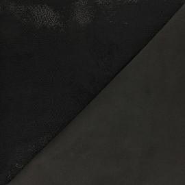 Stretch Genuine Leather - Black Magisco Kabur