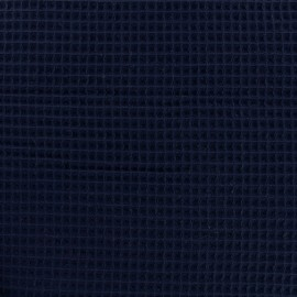 Double-sided Honeycomb towel fabric - Navy x 10cm