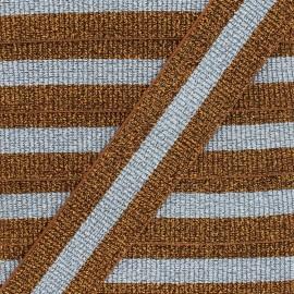 40 mm Belt Elastic Ribbon - Brown/Blue Réveillon x 50cm