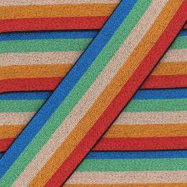 Striped lurex elastic band Copacabana - multicolor x 50cm