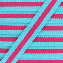30 mm Reversible Striped Strap - Fuchsia Gohan x 50cm