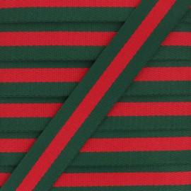 30 mm Reversible Striped Strap - Blue Gohan x 50cm